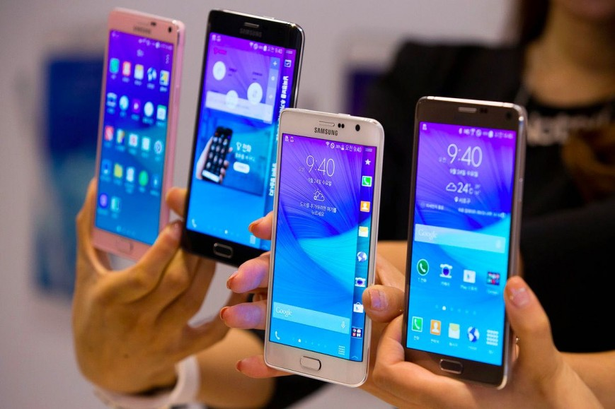 New Samsung phones Galaxy S6 and S6 Edge